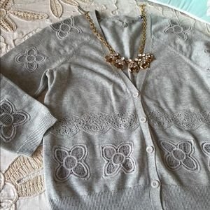 Anthropologie Knitted Knotted S cardigan sweater